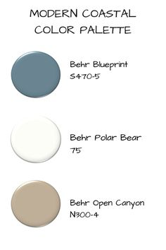 See how Behr Color of the Year 2019 Blueprint color is transforming a powder room to a Modern Coastal style! Coastal Powder Room, Coastal Living Rooms, Living Room Colors, Coastal Homes, Coastal Color Palettes, Coastal Colors, Coastal Decor, Pottery Barn, Modern Coastal