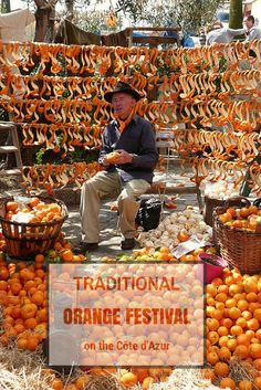 "Visiting ""la fête de l'oranger"" a traditional festival celebrating the orange harvest in the South of France"