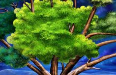 How to Paint a Tree | Best tree painting desktop wallpapers background collection