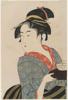 Kitagawa Utamaro Title:Naniwaya Okita Date:1792-93