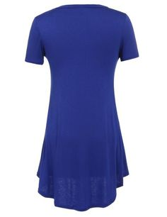 Buy Blue Short Sleeve V Neck Solid Front Pocket Loose Casual Dress products from Loverchic China,UK warehouse and USA warehouse at wholesale prices. Buy the best and cheap Dresses,Casual Dresses in Clothing from Loverchic.com with high quality and top-rated service.