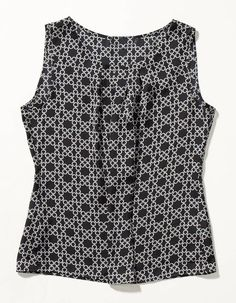 Black and white printed blouse