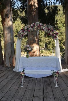 Outdoor Furniture, Outdoor Decor, Altar, Sun Lounger, Shabby Chic, Home Decor, Outdoor Ceremony, Bows, February