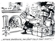 OÖN-Karikatur vom 22. Dezember 2014: »Kleiner Kaufrausch, man gönnt sich ja sonst nichts!« Mehr Karikaturen auf: http://www.nachrichten.at/nachrichten/karikatur/ (Bild: Haitzinger)