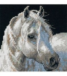 Kit includes: cloth/fabric, floss/thread, and easy to follow instructions Horse lover. This is the perfect needlepoint kit to add to you collection.