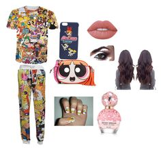 Cartoon lovers by gabbylindsey on Polyvore featuring polyvore, fashion, style, Moschino, Lime Crime, Marc Jacobs and clothing