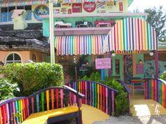 The Bubble Room, Sanibel Island, Florida. Best Red Velvet Cake on the planet.(Don't tell my Mom.)