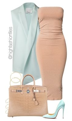 """""""Nude x Pastel"""" by highfashionfiles ❤ liked on Polyvore"""