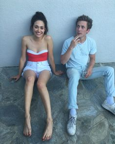 Emmy Rossum and Jeremy Allen White