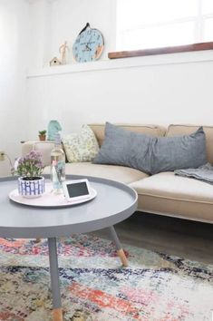Muted pastels with pops of color = the best! #WayfairCAHome | @diypassion