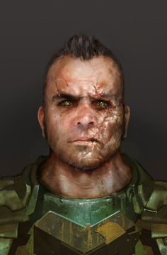 Fighter portrait Carver - Dead Space 3 by blueOX Character Concept, Character Art, Concept Art, Sci Fi Characters, Face Characters, Fantasy Male, Dark Fantasy, Apocalypse World, Edge Of The Empire