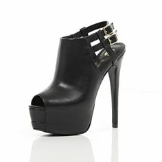 I'm shopping Black peep toe platform stilettos in the River Island iPhone app. Platform Stilettos, Peep Toe Platform, Next Shoes, Shoes World, Sexy Heels, High Heels, Dream Shoes, Shoe Collection, Shoes Heels Boots