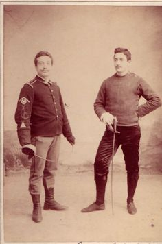 Men's historical fencing gear - undated from Tim Morehouse's Twitter feed.