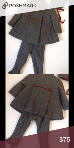 Girls 3 piece outfit 3 piece outfit including bonnet. Wool like material. Lord n Taylor, unique piece and superior quality Lord & Taylor Jackets & Coats