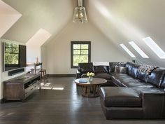 Perfect finished attic for movie nights or Netflix marathons! #Vacation #Rental #Montana