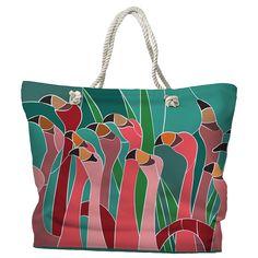 Flamingo Walk Tote Bag