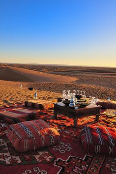Reve Au Sahara, M'Hamid Morocco (although it looks like they may also be drinking wine...)