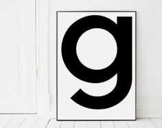 Letter a Print A a Monogram Letters Initial by AngelinasArtShop
