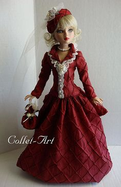 """2013 Tonner Wilde Imagination Ellowyne Prudence Amber Lizette Imperium Park OOAK Fashion """"Enchanted Victorian Christmas"""" Collet-Art 