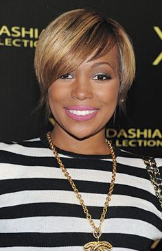 Magnificent Short Meagan Goode Straight From The Pages Of Essence Coms Hot Short Hairstyles Gunalazisus