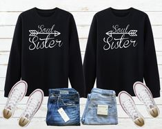 Soul Sister Sweatshirt, Soul Sister Gift, Matching Bff Sweatshirt, Best Friend Sweatshirt, Sister Hoodie, Twin Sister Shirt, Gift For Sister Bff Sweatshirts, Friends Sweatshirt, Hoodies, Soul Sisters, Twin Sisters, Sister Shirts, Unisex Fashion, Best Friend Gifts, Matching Outfits