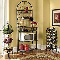 Twist Wine Rack, Three-tier Basket Rack and Baker's Rack