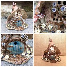 Woodland cottage lamp. Sallyamoss www.ceramiccrafts.com