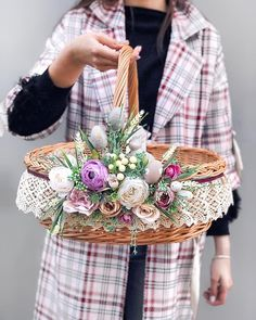 They are so bright and springy one hundred percent create t. Wedding Gift Baskets, Wedding Gift Wrapping, Wrapping Gifts, Basket Crafts, Diy Gift Baskets, Baptism Party Decorations, Handmade Decorations, Paper Crafts Origami, Flower Girl Basket