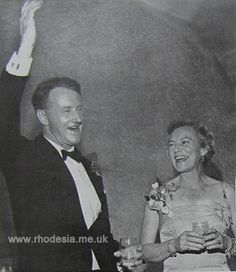 Prime Minister Ian Smith and Janet Smith at the 1967 Independence Ball Ian Smith, Lest We Forget, All Nature, Photography 101, Growing Up, Fun Facts, Zimbabwe, Prime Minister, Memories