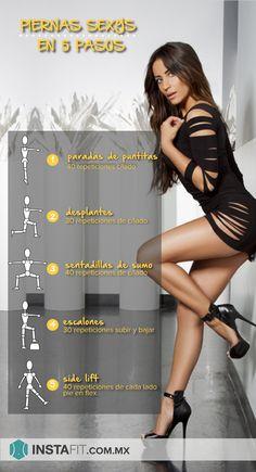 Rutina de ejercicio para piernas sexys y tonificadas. #sexylegs Más rutinas en instafit.com