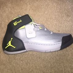 premium selection 27b54 8896b Carmelo Men shoes New NIKE AIR JORDAN MELO 1.5 sz 8.5 Carmelo WOLF GREY VOLT  ICE