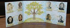 4 generations cheat sheet Family tree fold out  #genealogy