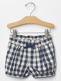 Checkered bubble shorts