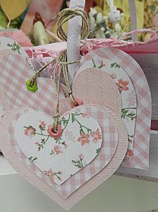 gives me an idea for a scrapbook page. Valentine Crafts, Valentines, Tarjetas Diy, Handmade Gift Tags, Heart Crafts, Paper Tags, Scrapbook Embellishments, Christmas Gift Tags, Card Tags
