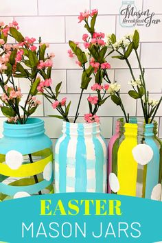 Looking for Mason jar Easter crafts? Find fun, festive tutorials for simple crafts here on Mason Jar Breakfast! Jar Crafts, Craft Stick Crafts, Easter Crafts, Easter Ideas, Mason Jar Gifts, Mason Jar Diy, Mason Jar Breakfast, Mason Jar Projects, Diy Projects