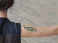 Tatouage temporaire de narval par deKrantenkapper sur Etsy, $8.39