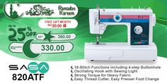 SASA 820ATF #ramadan #kareem #discount #sale #sewing #machine #sasa #stitch #fashion #online #mall