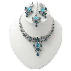 Teal Blue, Blue And Silver, Necklace Set, Beaded Necklace, Indian Jewelry Sets, Bollywood Jewelry, Jewelry Gifts, Jewellery, Indian Bridal