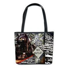 Train Collage rect. Bucket Bag> Totes, Accessories, Accoutrements and Such> Flawn Ocho