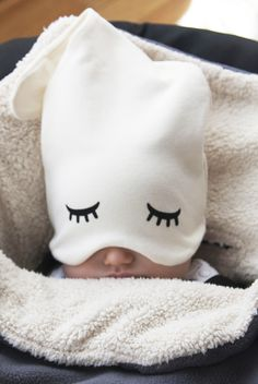 pop this adorable hat on your baby the next time he's taking a nap while you're out and about