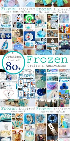 A Little Pinch of Perfect: An Organized List of 80+ Frozen Inspired Winter Crafts and Activities for Kids -perfect for any Frozen fan or party. Includes games, printables, sensory play, crafts, DIYs and more, <3!!!