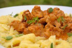 Recept: Hubové ragú s haluškami | Nebíčko v papuľke