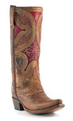 Womens Lucchese Mosiac Persian Boots Nude #M4861 via @Allens Boots