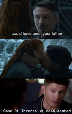 Littlefinger said that he could have been Sansa's father..... 2 minutes later he kissed her....