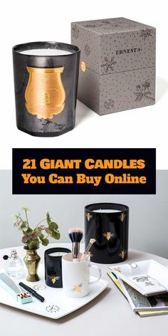 These massive candles are up to 10 kg! They come from various brands, but can all be found online. Giant Candles, Large Candles, Candles Online, Scented Candles, Open House, Wicked, Fragrance, Canning, Luxury