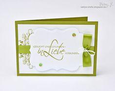 Bettys Crafts: Hochzeitsserie - Gesucht und gefunden in Grün-Weiß - Hochzeitseinladung