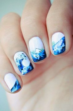 Amazing ocean themed nails!