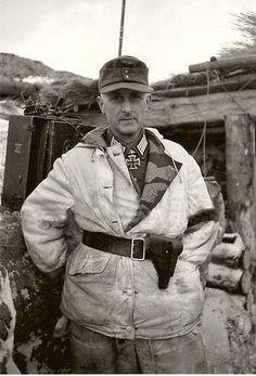 German Soldier in winter camouflage