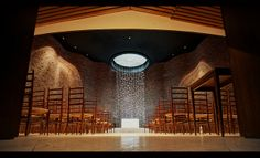 "MIT Chapel (Photo: Dave Williams). ""The MIT Chapel (dedicated 1955) is a non-denominational chapel designed by noted architect Eero Saarinen."" #MIT"