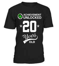 """# Achievement Unlocked 20 years old Happy 20th birthday Shirt - Limited Edition .  Special Offer, not available in shops      Comes in a variety of styles and colours      Buy yours now before it is too late!      Secured payment via Visa / Mastercard / Amex / PayPal      How to place an order            Choose the model from the drop-down menu      Click on """"Buy it now""""      Choose the size and the quantity      Add your delivery address and bank details      And that's it!      Tags…"""